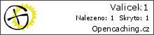 Opencaching.cz - Statistika - Valicek1