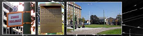 Trolejbusová zastávka Orionka (CC-BY-SA VOKATY)